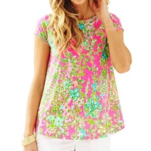 Lilly Pulitzer Southern Charm Betsey Top Size XS